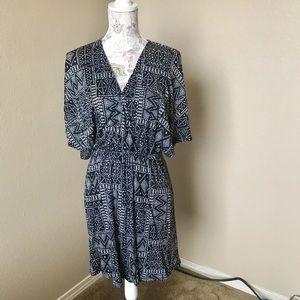 🔥 5X25 H&M Shift Floral/Tan hi/lo pretty dress